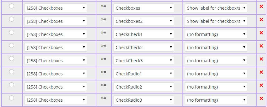 Checkbox Demo Field Map