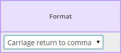 Format Dropdown List from the Field Map Designer screen