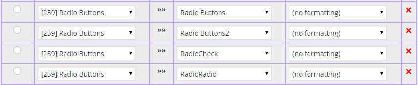 from PDF Form - Radio Button Field Settings