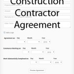 Construction Contractor Agreement