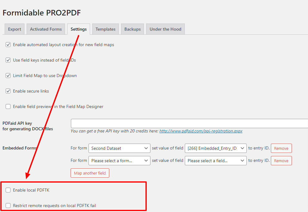 Intranet Settings for Local Server PDF Creation